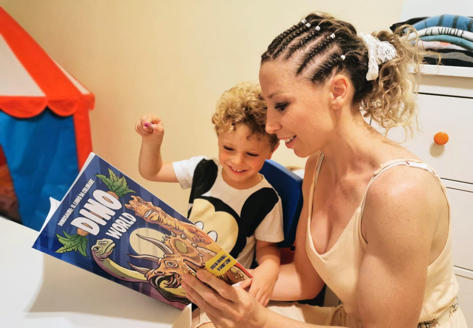 Mother and Son coloring book