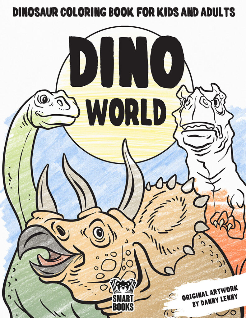 Dinosaur Coloring Book Deluxe Hardcover