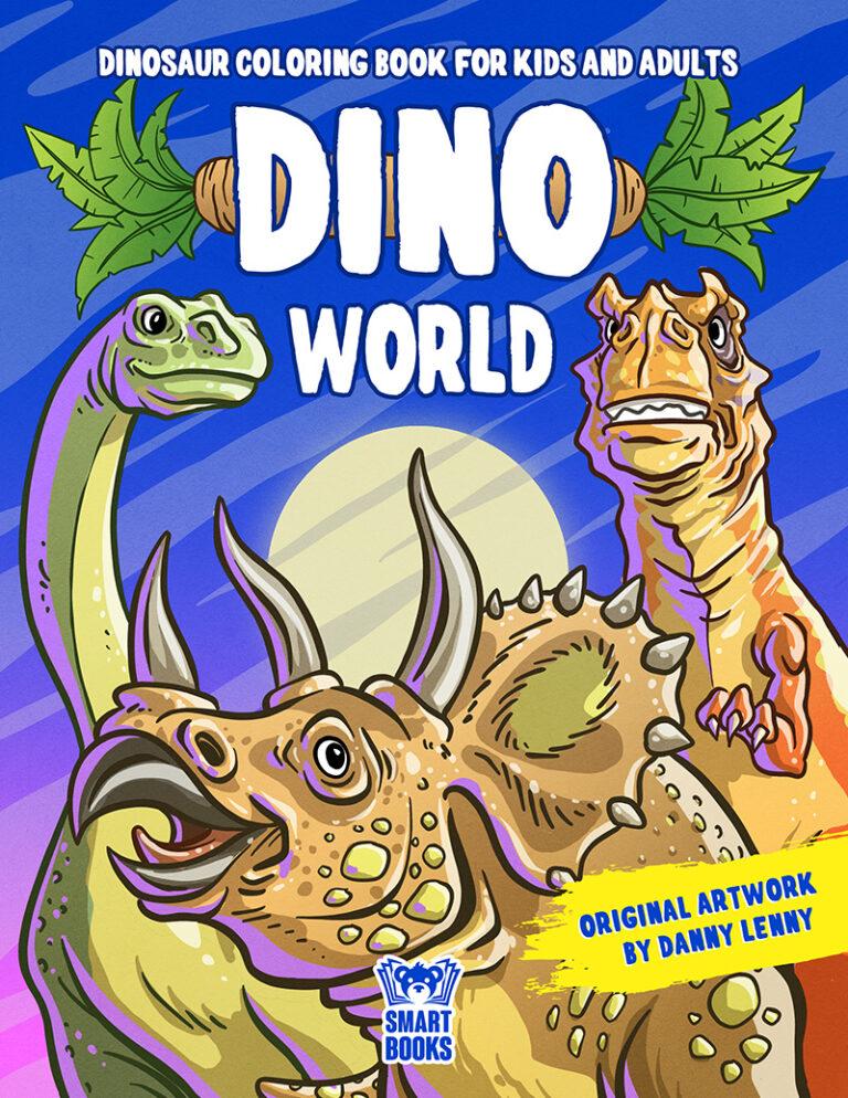 Dinosaur Coloring Book - DINO WORLD