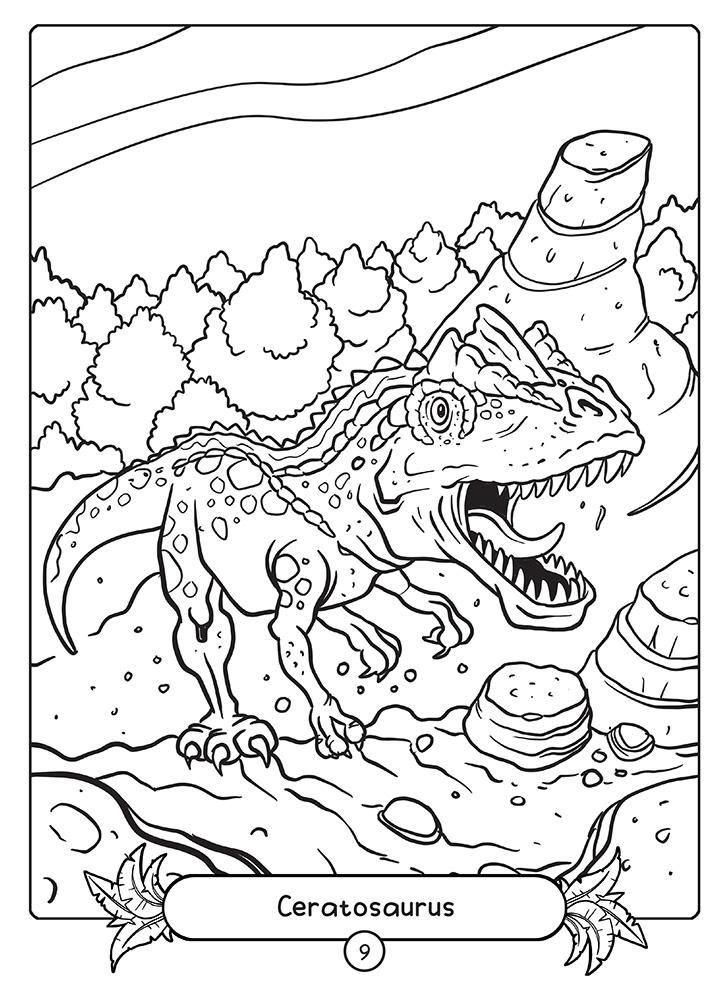 Ceratosaurus Coloring Page
