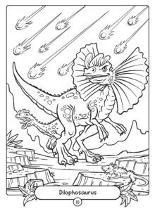 Dilophosaurus Coloring Page - Dinosaur Colouring Page from smartbooksforkids.com