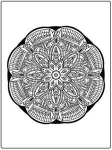 Mandala Coloring Page FREE to Print